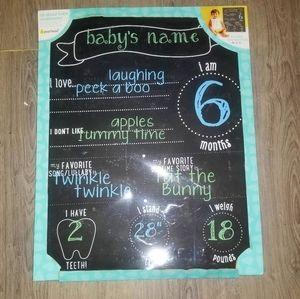 Brand New Baby Chalkboard